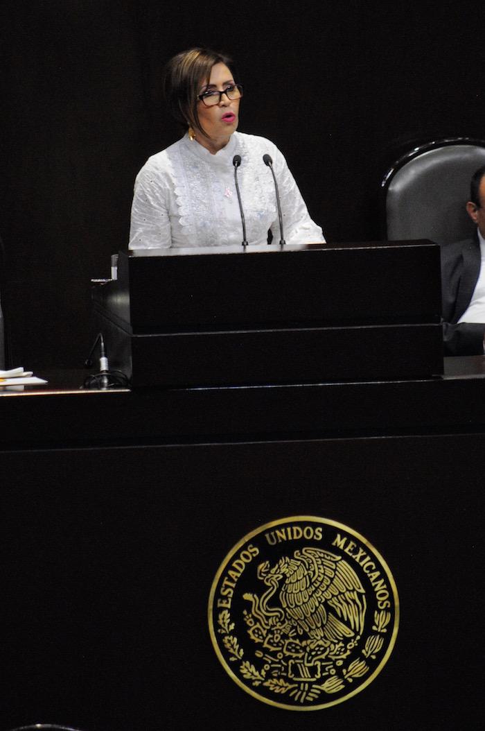 A Rosario Robles le han reclamado que se abstenga de mentirle a la Cámara de Diputados. Foto: Cuartoscuro