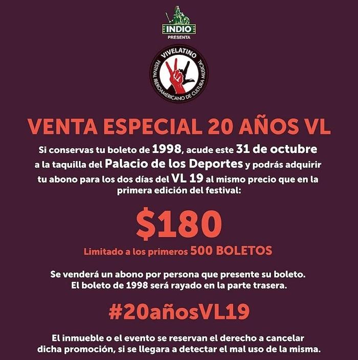 Vive Latino lanza venta especial de boletos para su edición 2019