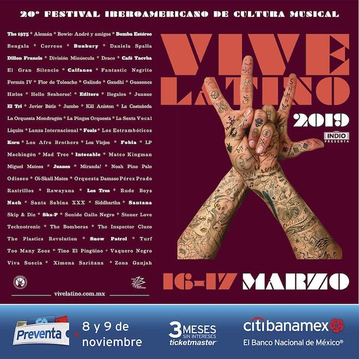 Filtran supuesto cartel de Vive Latino y así reaccionan fanáticos