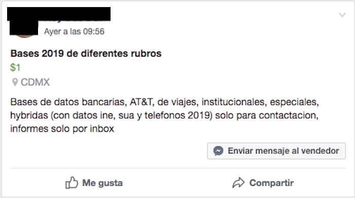 Cédula, RFC, número de celular… Tus datos personales están en el mercado negro por 100 pesos