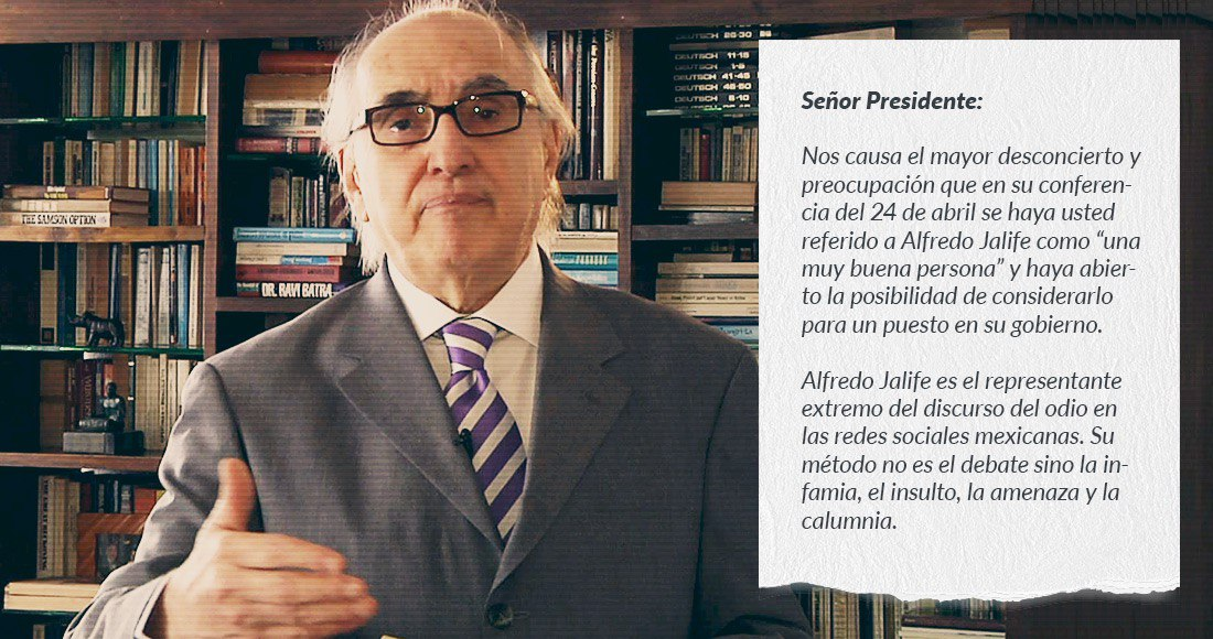La carta contra Alfredo Jalife mueve 3 redes sociales y