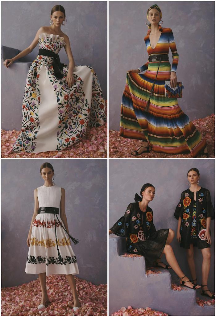 """246f0091cd Algunos de los diseños de la marca Carolina Herrera con tejidos de  comunidades indígenas de México. Fotos: Carolina Herrera. """""""