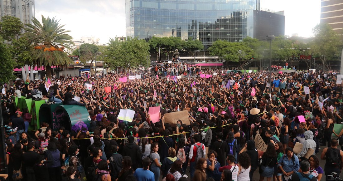 Resultado de imagen de protesta de mujeres mexico