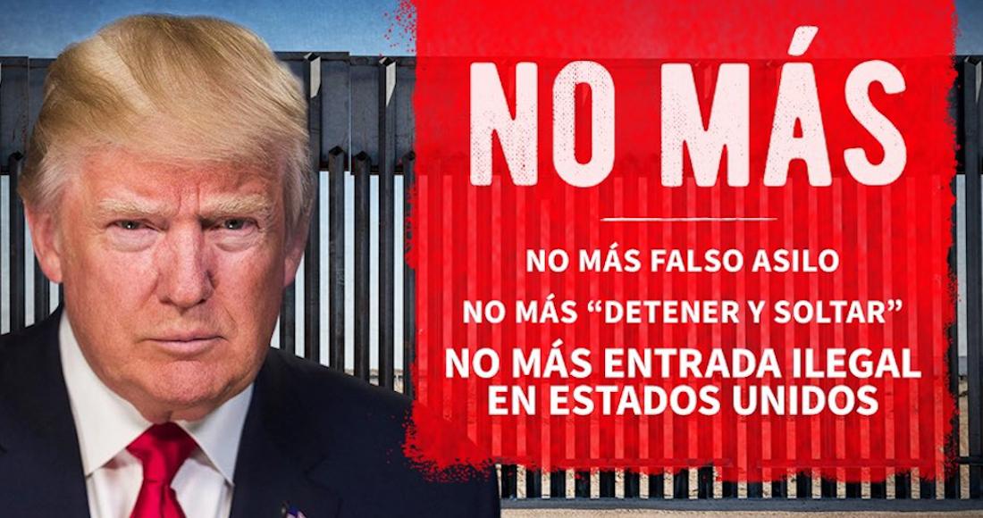 """Trump visita el muro fronterizo y publica mensaje en español en su Twitter: """"no más entrada ilegal a EU"""""""