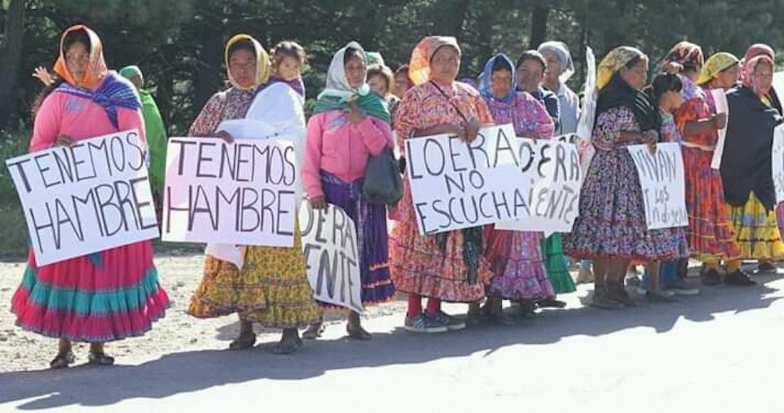 Exigen rarámuris atención federal directa al concluir marcha en Chihuahua