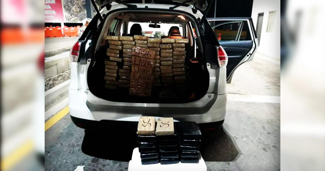La Guardia Nacional detiene a un teniente activo del Ejército con 88 paquetes de cocaína y cristal en BC