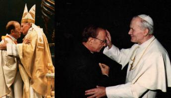 Marcial Maciel y Juan Pablo II