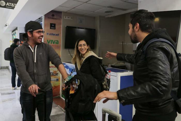 Su llegada fue en la Sala E2 de la Terminal 1 del Aeropuerto Internacional de la Ciudad de México (AICM). Foto: Graciela López, Cuartoscuro