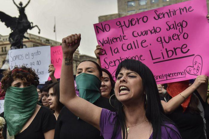 Las mujeres exigen a los medios de comunicación que tengan un uso adecuado de las imágenes. Foto: Mario Jasso, Cuartoscuro