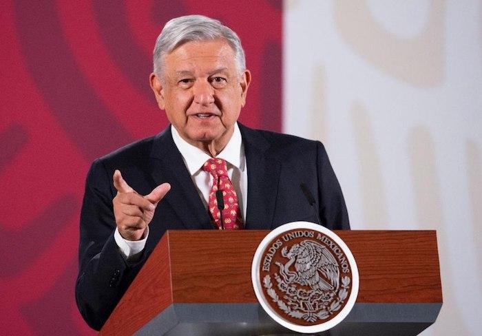 AMLO durante su conferencia matutina de este martes en Palacio Nacional. Foto: Gobierno de México