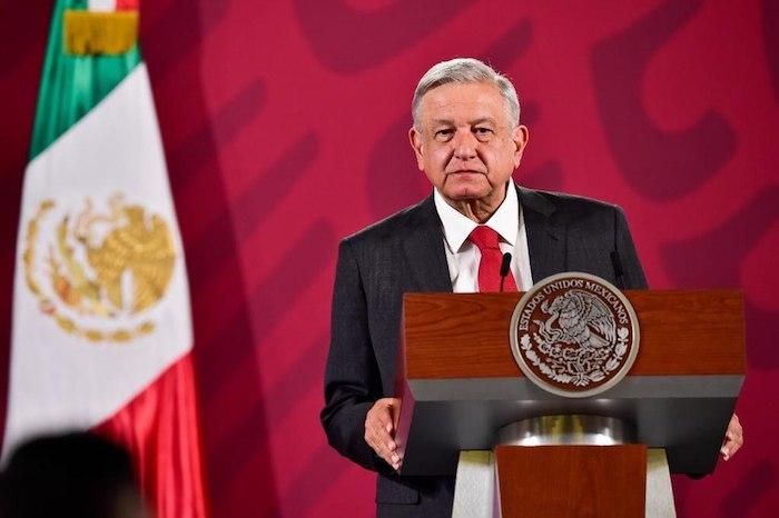 El Presidente Andrés Manuel López Obrador en conferencia de prensa este martes.