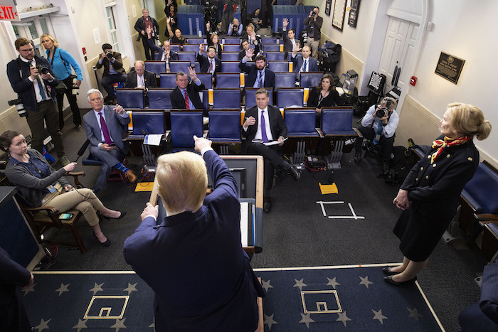 El Presidente Donald Trump al dar una conferencia de prensa sobre el coronavirus, el martes 31 de marzo de 2020 en Washington. Foto: Alex Brandon, AP