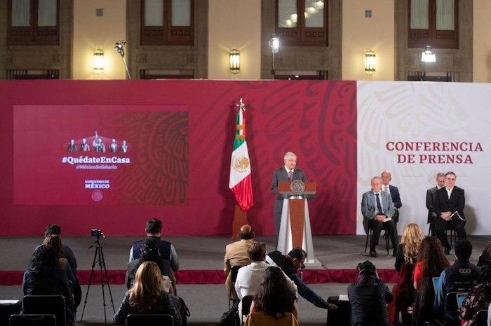 El Presidente de México, Andrés Manuel López Obrador en su conferencia de prensa de este martes.