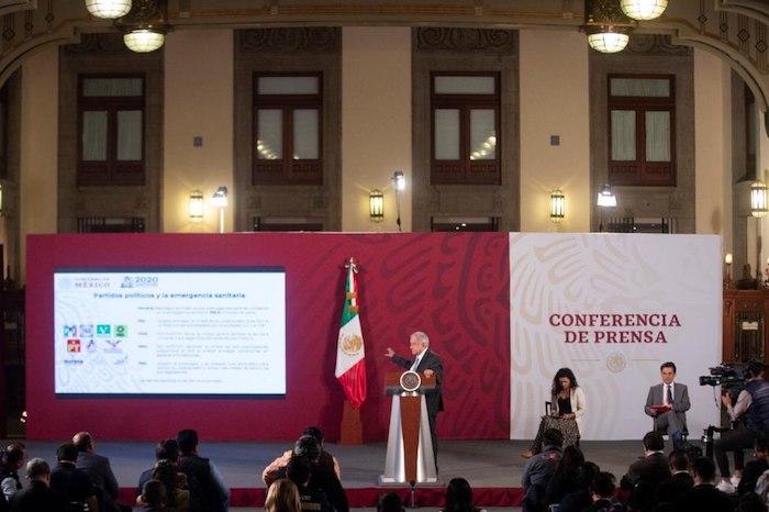 El Presidente de México en su conferencia de prensa matutina de este miércoles. Foto: Gobierno de México