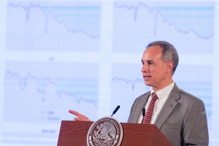 Hugo López-Gatell Ramírez, Subsecretario de Prevención y Promoción de la Salud, en conferencia.