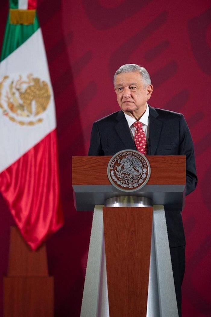 El Presidente Andrés Manuel López Obrador en su conferencia matutina de este martes.