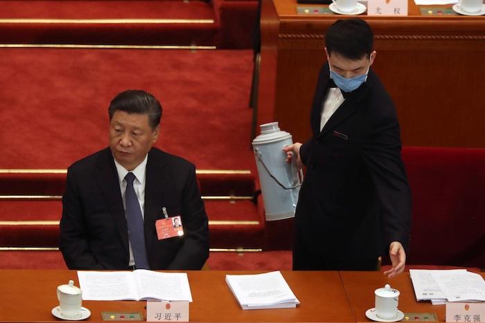 El Presidente de China en una reunión.