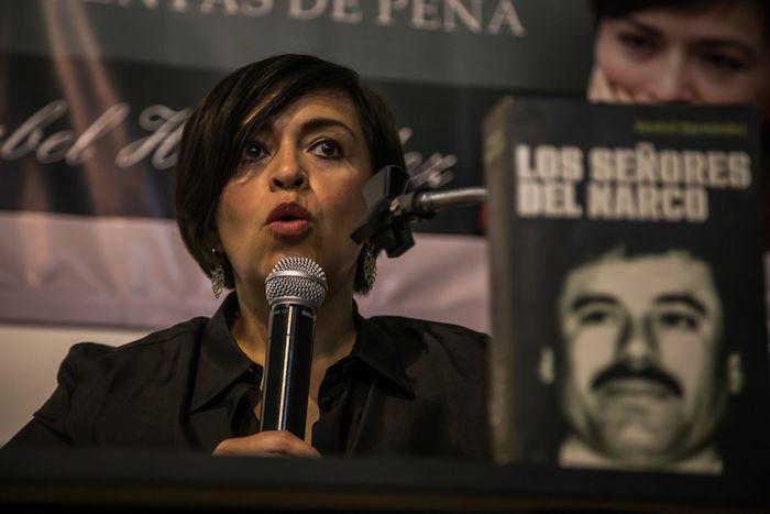 La periodista Anabel Hernández García en una conferencia.