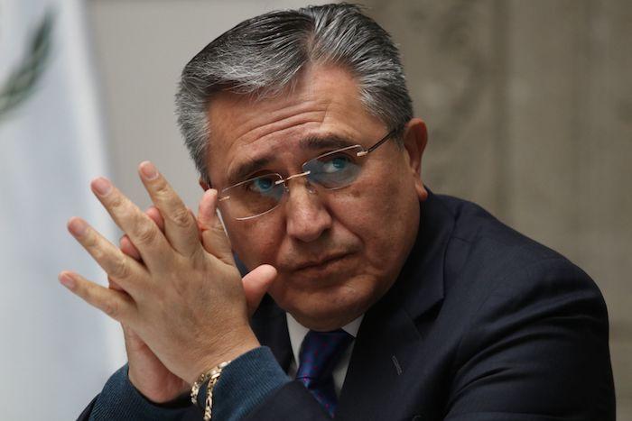 El pasado 15 de noviembre, Luis Raúl González Pérez, extitular de la Comisión Nacional de Derechos Humanos, durante la presentación de la Memoria de Gestión durante su administración.