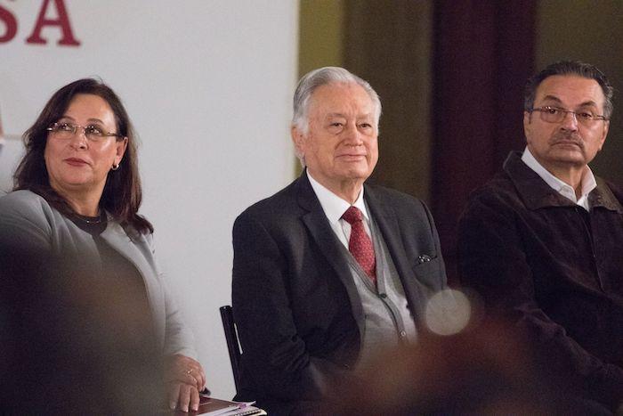 Rocío Nahle, Secretaria de Energía; Manuel Bartlett, director de la Comisión Federal de Electricidad (CFE); Octavio Romero, titular de Petróleos Mexicanos (Pemex).