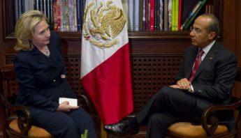 Clinton y Calderon columna