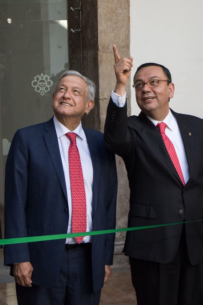 AMLO y el ahora Senador Germán Martínez.