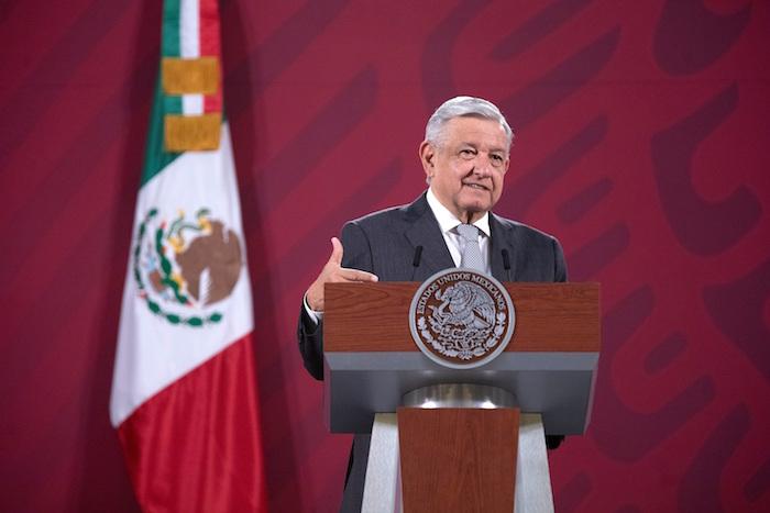 Fotografía cedida por la Presidencia de México, del Presidente de mexicano Andrés Manuel López Obrador, durante una rueda de prensa matutina en Palacio Nacional en Ciudad de México (México).