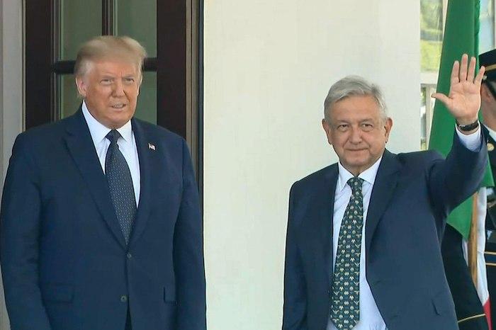 Los presidentes de Estados Unidos y México.