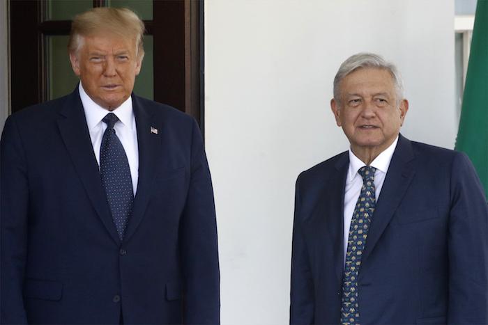 El Presidente Donald Trump recibe al Presidente mexicano Andrés Manuel López Obrador en la Casa Blanca en Washington, el miércoles, 8 de julio del 2020. 2020.