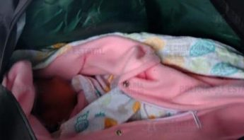 Bebé abandonada maleta