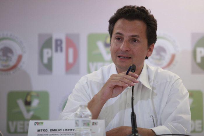 En 2014, Emilio Lozoya en una rueda de prensa en el marco de la Plenaria de Legisladores del PRI-PVEM.