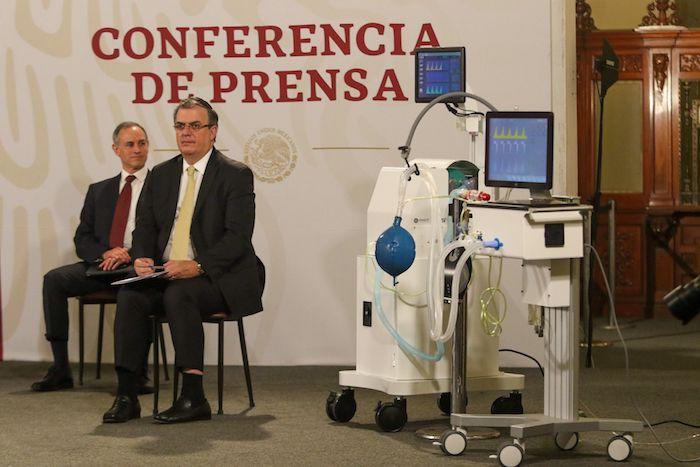 Andrés Manuel López Obrador, Presidente de México, encabezó la conferencia mañanera en Palacio Nacional, en donde presentaron los ventiladores desarrollados por el Conacyt.