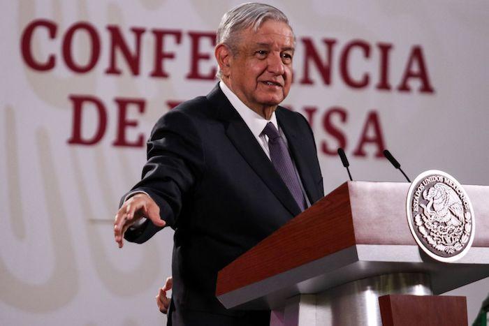 El Presidente Andrés Manuel López Obrador en una de sus conferencias de prensa.