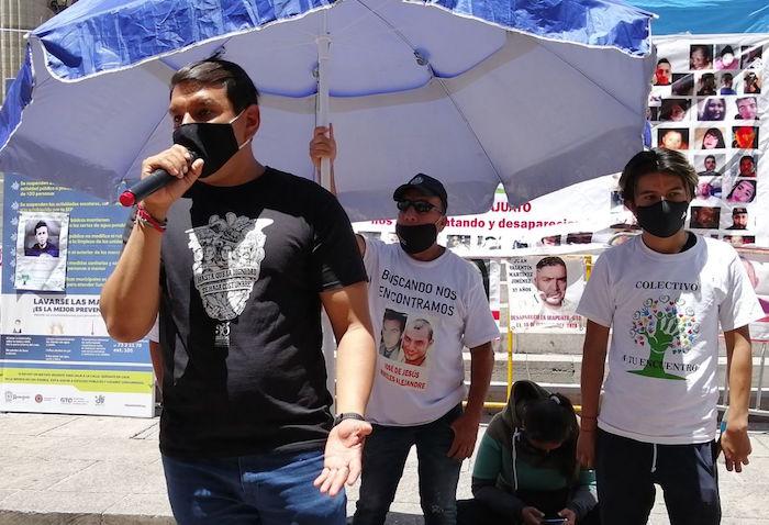 """José Gutiérrez Cruz, representante del colectivo de búsqueda """"Sembrando Comunidad""""."""