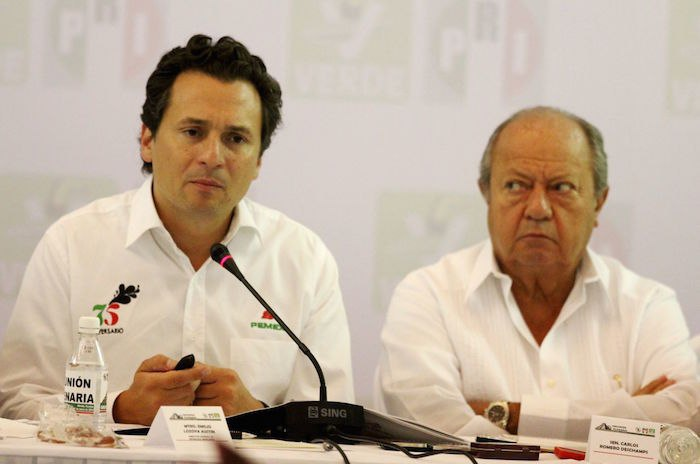 Emilio Lozoya y Carlos Romero Deschamps.