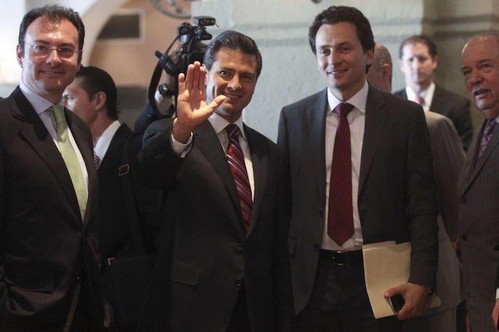 En la imagen se observan a Luis Videgaray, Enrique Peña Nieto y Emilio Lozoya.