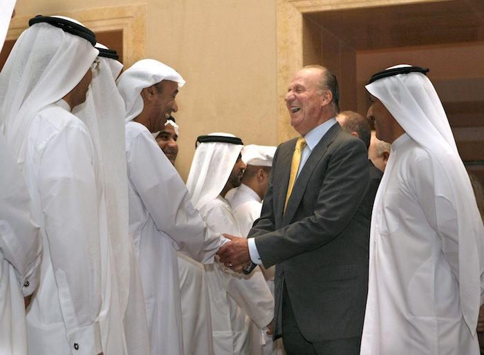 El rey Juan Carlos en 2008 en una visita a Dubai.