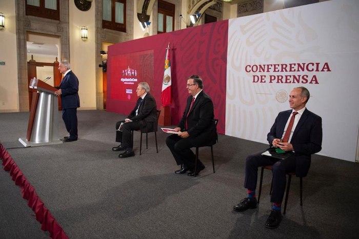 El Presidente Andrés Manuel López Obrador encabeza su encuentro matutino con la prensa.