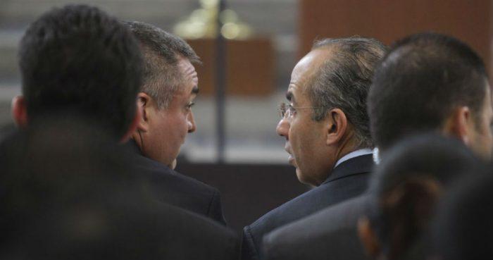 Felipe Calderón, expresidente de México, y su entonces Secretario de Seguridad Pública, Genaro García Luna, en 2012.