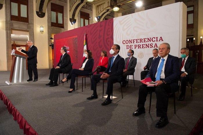 El Presidente Andrés Manuel López Obrador en su conferencia matutina de este jueves.