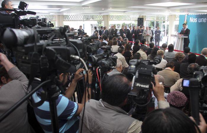 El expresidente Enrique Peña Nieto durante un encuentro con la prensa en 2012. Foto: Saúl López, Cuartoscuro