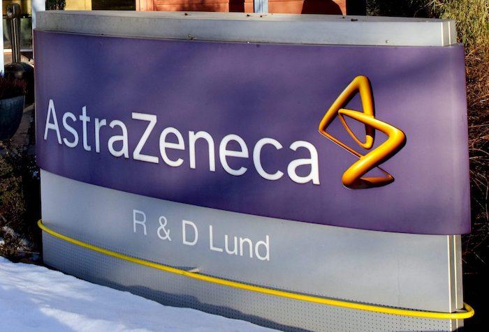 La entrada de la planta del gigante farmacéutico anglo-sueco AstraZeneca en Lund, Suecia.