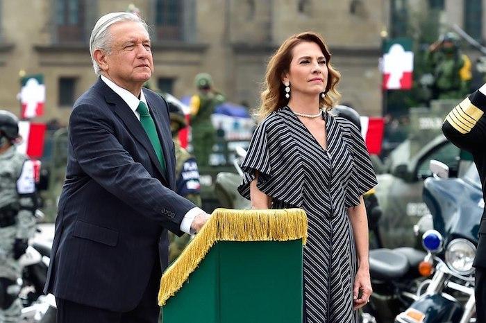 El Presidente Andrés Manuel López Obrador y su esposa Beatriz Gutiérrez.
