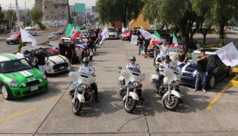 Rally con mini coopers por fiestas patrias en Naucalpan