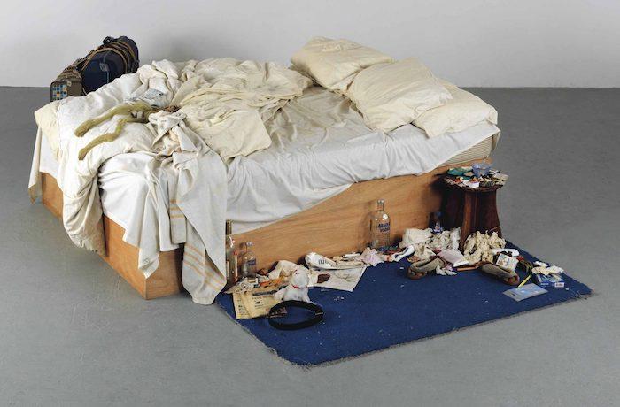 """""""La cama es de Tracey Emin, artista inglesa perteneciente a uno de los más influyentes y poderosos movimientos del arte actual"""". Foto: Tracey Emin - My Bed 1998"""