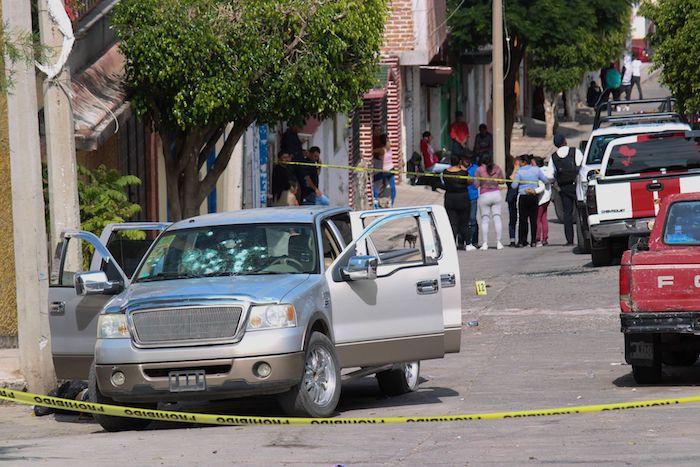 En un velorio que se llevaba a cabo en la calle Felipe Ángeles, en Jaral del Progreso, Guanajuato, cinco personas fueron ultimadas a balazos. Foto: Diego Costa, Cuartoscuro