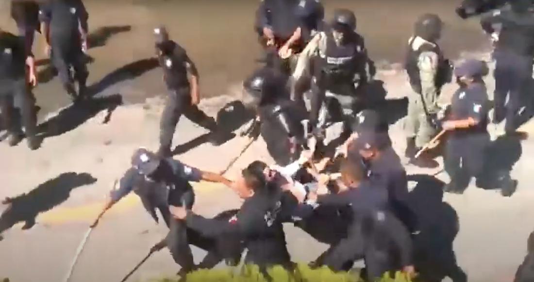 Policías reprimen manifestación contra construcción de una base militar en  Chilón, Chiapas; detienen a 3 indígenas